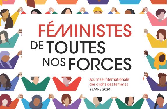 Campagne en faveur de la défense des droits des femmes pour le 8 mars